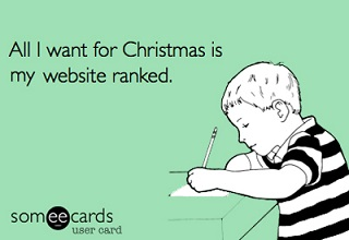 All I Want for Christmas is my website ranked